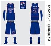 basketball uniform template...   Shutterstock .eps vector #746819101
