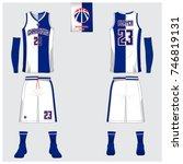basketball jersey template... | Shutterstock .eps vector #746819131