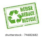 green grunge rubber stamp with...   Shutterstock .eps vector #74682682