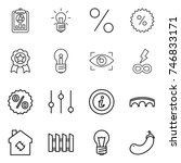 thin line icon set   report ... | Shutterstock .eps vector #746833171