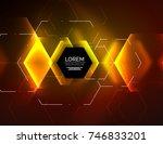 digital techno abstract... | Shutterstock .eps vector #746833201