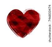 grunge heart design.abstract... | Shutterstock .eps vector #746833474
