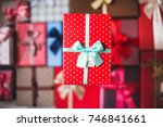 new year's and christmas. gift... | Shutterstock . vector #746841661