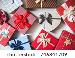 gift boxes. greeting card... | Shutterstock . vector #746841709
