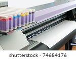 large format ink jet printer... | Shutterstock . vector #74684176