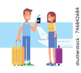people traveling design. happy... | Shutterstock .eps vector #746842684