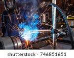 a close up man is an auto... | Shutterstock . vector #746851651