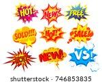 vector illustration set of... | Shutterstock .eps vector #746853835