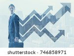 growth of business concept. | Shutterstock . vector #746858971
