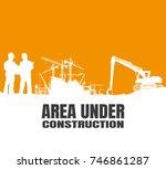 construction silhouettes vector ... | Shutterstock .eps vector #746861287
