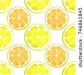citrus watercolor seamless