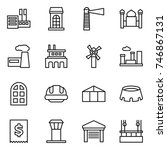 thin line icon set   store ... | Shutterstock .eps vector #746867131