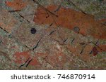 abstract multicolor grunge...   Shutterstock . vector #746870914