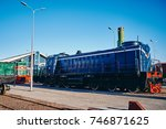 rail transport  trains and cars | Shutterstock . vector #746871625