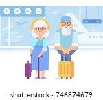 people traveling design. old... | Shutterstock .eps vector #746874679