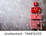 christmas advent calendar... | Shutterstock . vector #746876155