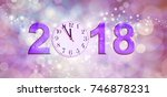 nearly happy new year 2018   a... | Shutterstock . vector #746878231