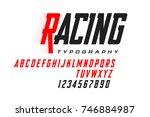 sport style modern font ... | Shutterstock .eps vector #746884987