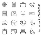 thin line icon set   target ... | Shutterstock .eps vector #746886349
