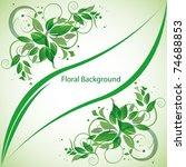 green abstract floral  vector... | Shutterstock .eps vector #74688853