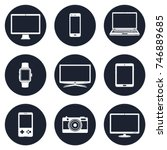 electronic devices icons | Shutterstock .eps vector #746889685