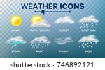 weather icons set. sunny ... | Shutterstock . vector #746892121