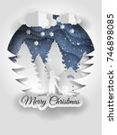 merry christmas vector design.... | Shutterstock .eps vector #746898085