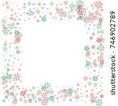square christmas border or... | Shutterstock .eps vector #746902789