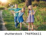 children s having fun and happy ... | Shutterstock . vector #746906611