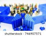 hong kong  oct 1  lego... | Shutterstock . vector #746907571