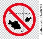 no fishing sign | Shutterstock .eps vector #746907949