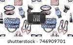 vector hand drawn fashion...   Shutterstock .eps vector #746909701