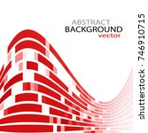 red curves background  suitable ... | Shutterstock .eps vector #746910715