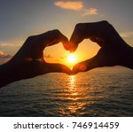 hand made heart shaped with... | Shutterstock . vector #746914459
