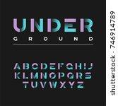 underground decorative bold...   Shutterstock .eps vector #746914789