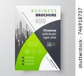 flyer brochure design circle ... | Shutterstock .eps vector #746918737