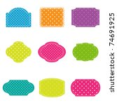 Vector Set Of Colorful Polka...