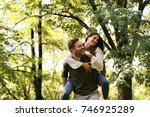 young couple have fun . | Shutterstock . vector #746925289