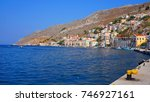 photo from iconic port of symi... | Shutterstock . vector #746927161