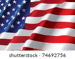 american flag | Shutterstock . vector #74692756