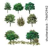 tree | Shutterstock .eps vector #74692942
