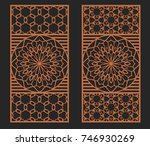 laser cutting set. wall or... | Shutterstock .eps vector #746930269