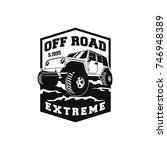 off road car 4x4 vehicle event  ... | Shutterstock .eps vector #746948389