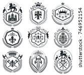 old style heraldry  heraldic...   Shutterstock .eps vector #746952154