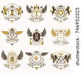 vector vintage heraldic coat of ... | Shutterstock .eps vector #746952325