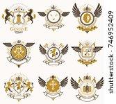 vector vintage heraldic coat of ...   Shutterstock .eps vector #746952409