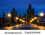 prague  czech republic. charles ... | Shutterstock . vector #746959999