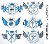 collection of vector heraldic... | Shutterstock .eps vector #746961979