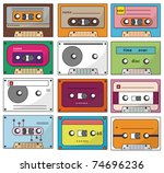 cartoon tape icon | Shutterstock .eps vector #74696236