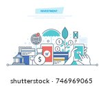 financial smart investment ... | Shutterstock .eps vector #746969065